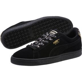 Thumbnail 2 of Suede Wild Women's Sneakers, Black- Gold-Pebble, medium