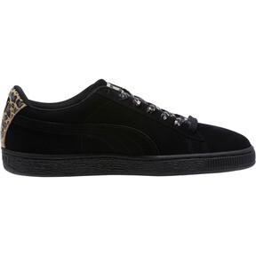 Thumbnail 3 of Suede Wild Women's Sneakers, Black- Gold-Pebble, medium