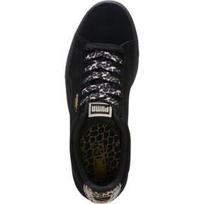 Thumbnail 5 of Suede Wild Women's Sneakers, Black- Gold-Pebble, medium