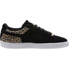 Thumbnail 3 of Suede Wild Qtr Women's Sneakers, Puma Black-Puma Team Gold, medium