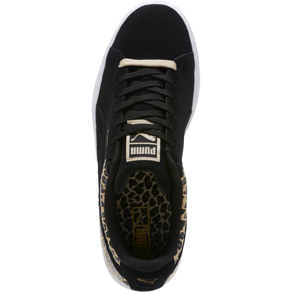 Suede Wild Qtr Women's Sneakers, Puma Black-Puma Team Gold, large