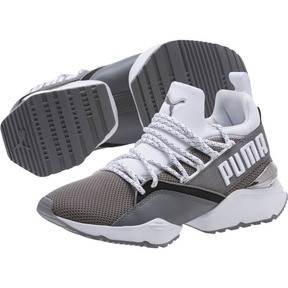 Thumbnail 2 of Muse Maia Smet Women's Sneakers, Steel Gray-Puma White, medium