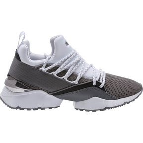 Thumbnail 3 of Muse Maia Smet Women's Sneakers, Steel Gray-Puma White, medium