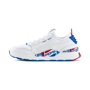 Thumbnail 1 of PUMA x PEPSI MAX RS-0 Trainers, Puma Wht-Puma Royal-Puma Wht, medium