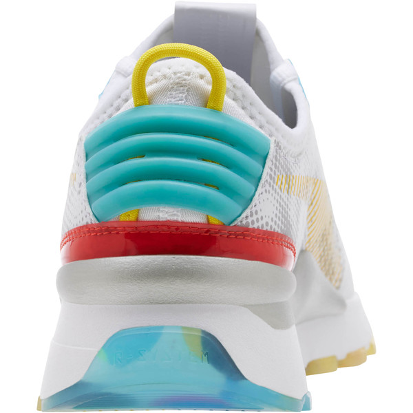 RS-0 Optic Filter Men's Sneakers, Puma Wht-AQS-Vbrnt Ylw-HRR, large