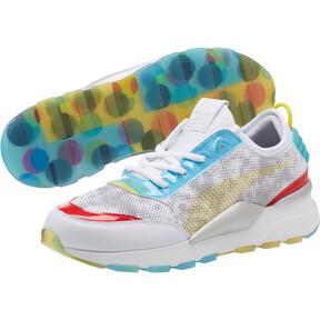 Thumbnail 2 of RS-0 Optic Filter Men's Sneakers, Puma Wht-AQS-Vbrnt Ylw-HRR, medium