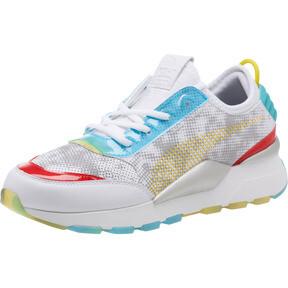 Thumbnail 1 of RS-0 Optic Filter Men's Sneakers, Puma Wht-AQS-Vbrnt Ylw-HRR, medium