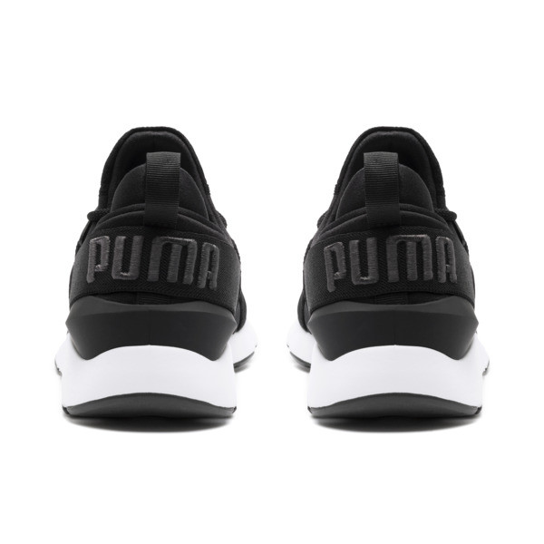 Muse Satin II Women's Trainers, Puma Black-Asphalt, large