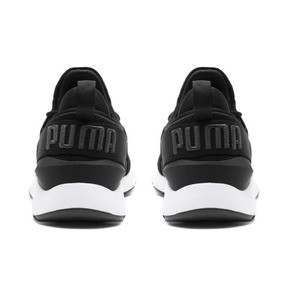 Thumbnail 4 of Muse 2 Satin Women's Sneakers, Puma Black-Asphalt, medium