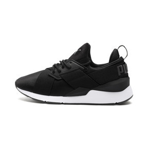Thumbnail 1 of Muse 2 Satin Women's Sneakers, Puma Black-Asphalt, medium