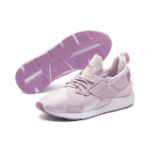 Muse Satin II Women's Trainers, Winsome Orchid-Smoky Grape, large
