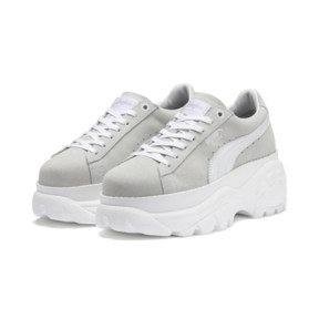 Thumbnail 2 of PUMA x BUFFALO Suede Shoes, Puma White-Puma White, medium