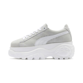 Thumbnail 1 of PUMA x BUFFALO Suede Shoes, Puma White-Puma White, medium