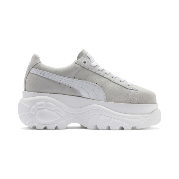 PUMA x BUFFALO Suede Shoes, Puma White-Puma White, large