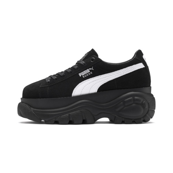 PUMA x BUFFALO Suede Shoes, Puma Black-Puma Black, large