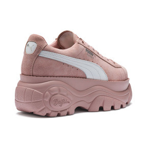 Thumbnail 7 of PUMA x BUFFALO LONDON Suede Classic Women's Sneakers, Mellow Rose-Puma White, medium