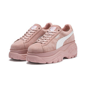 Thumbnail 2 of PUMA x BUFFALO LONDON Suede Classic Women's Sneakers, Mellow Rose-Puma White, medium