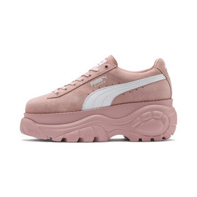 Thumbnail 1 of PUMA x BUFFALO LONDON Suede Classic Women's Sneakers, Mellow Rose-Puma White, medium