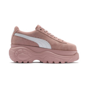 Thumbnail 5 of PUMA x BUFFALO LONDON Suede Classic Women's Sneakers, Mellow Rose-Puma White, medium