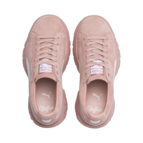 Thumbnail 6 of PUMA x BUFFALO LONDON Suede Classic Women's Sneakers, Mellow Rose-Puma White, medium