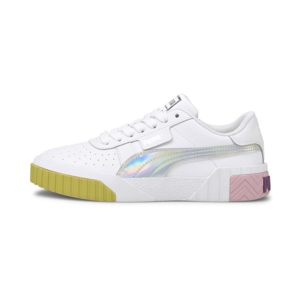 puma cali bubbles sneakers jr in pink, size 4