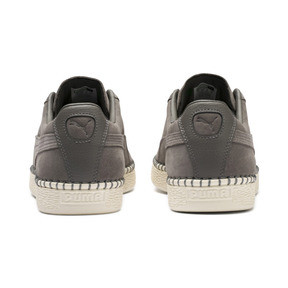 Thumbnail 4 of Suede Classic Blanket Stitch Sneakers, Charcoal Gray-Whisper White, medium