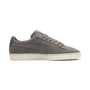 Thumbnail 6 of Suede Classic Blanket Stitch Sneakers, Charcoal Gray-Whisper White, medium