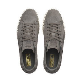 Thumbnail 7 of Suede Classic Blanket Stitch Sneakers, Charcoal Gray-Whisper White, medium