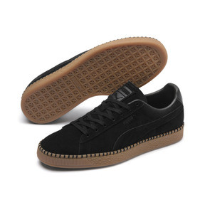 Thumbnail 3 of Suede Classic Blanket Stitch Sneakers, Puma Black-Gum, medium