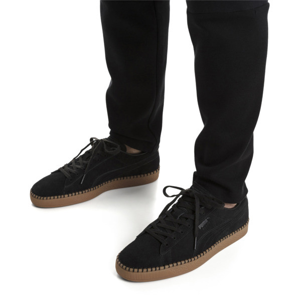 Suede Classic Blanket Stitch sneakers, Puma Black-Gum, large