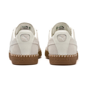 Thumbnail 4 of Suede Classic Blanket Stitch Trainers, Whisper White-Gum, medium