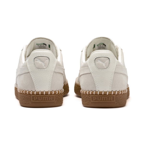 Suede Classic Blanket Stitch Sneakers, Whisper White-Gum, large