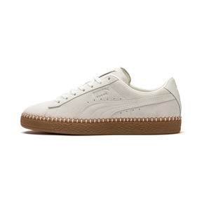 Thumbnail 1 of Suede Classic Blanket Stitch Trainers, Whisper White-Gum, medium