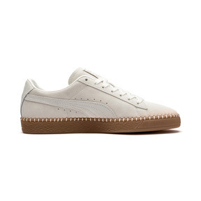 Thumbnail 6 of Suede Classic Blanket Stitch Trainers, Whisper White-Gum, medium