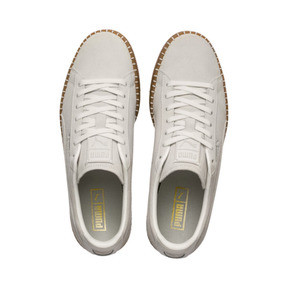 Thumbnail 7 of Suede Classic Blanket Stitch Trainers, Whisper White-Gum, medium