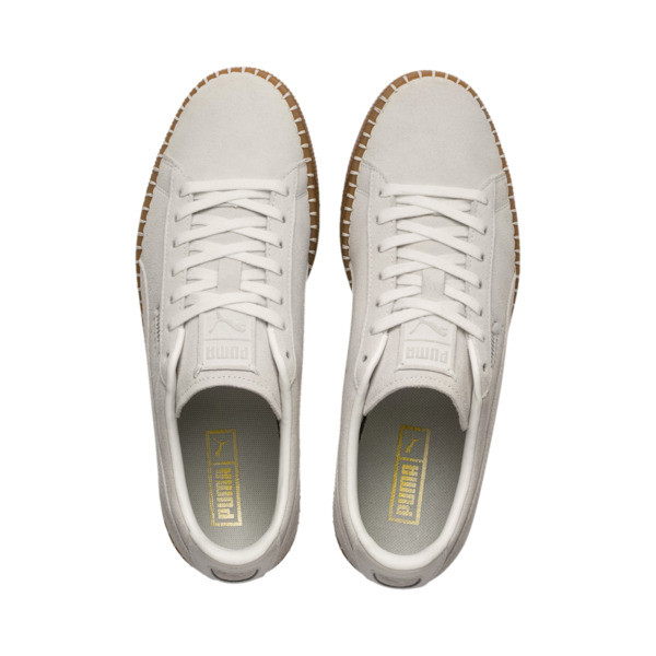 0003459a5be Suede Classic Blanket Stitch Sneakers, Whisper White-Gum, large. ‹ ›