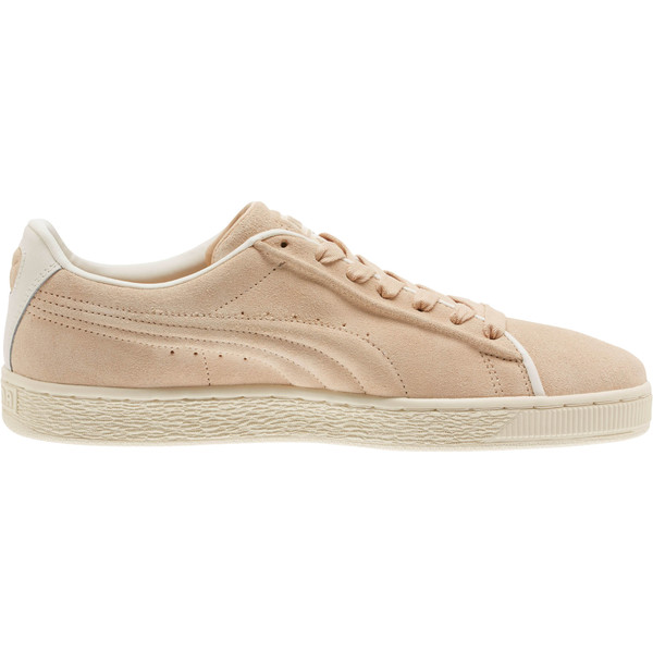 Suede Classic Raised Formstrip Sneakers, Natural Vachetta-Whisper w, large