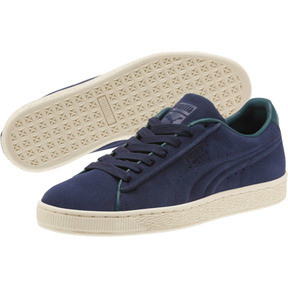 Thumbnail 2 of Suede Classic Raised Formstrip Sneakers, Peacoat-Ponderosa Pine, medium
