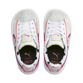 Miniatura 6 de ZapatosPUMA x SOPHIA WEBSTER Basket para niños, Puma White-Pale Pink, mediano