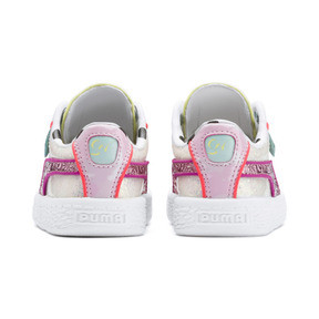 Thumbnail 3 of PUMA x SOPHIA WEBSTER Basket Sneakers INF, Puma White-Pale Pink, medium