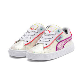 Thumbnail 2 of PUMA x SOPHIA WEBSTER Basket Sneakers INF, Puma White-Pale Pink, medium