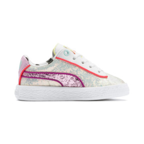 Thumbnail 5 of PUMA x SOPHIA WEBSTER Basket Sneakers INF, Puma White-Pale Pink, medium