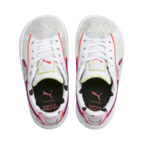 Thumbnail 6 of PUMA x SOPHIA WEBSTER Basket Sneakers INF, Puma White-Pale Pink, medium