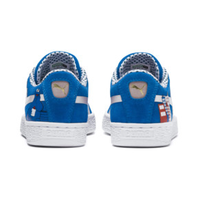 Thumbnail 4 of Sesame Street 50 Youth Suede Trainers, Indigo Bunting-Veiled Rose, medium