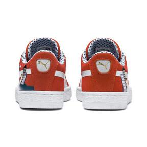Miniatura 3 de Zapatos deportivosSesame Street 50 Suede para junior, Cherry Tomato-Puma White, mediano