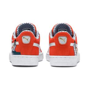 Miniatura 3 de Zapatos Sesame Street 50 Suede para niño pequeño, Cherry Tomato-Puma White, mediano