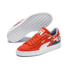 Miniatura 2 de Zapatos Sesame Street 50 Suede para niño pequeño, Cherry Tomato-Puma White, mediano