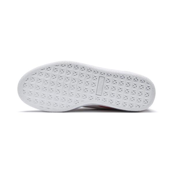Zapatos Sesame Street 50 Suede para niño pequeño, Cherry Tomato-Puma White, grande