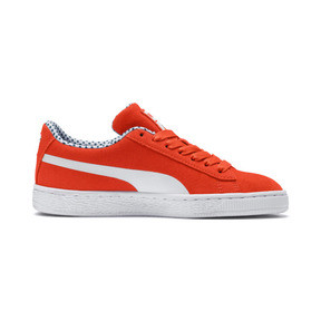 Miniatura 5 de Zapatos Sesame Street 50 Suede para niño pequeño, Cherry Tomato-Puma White, mediano