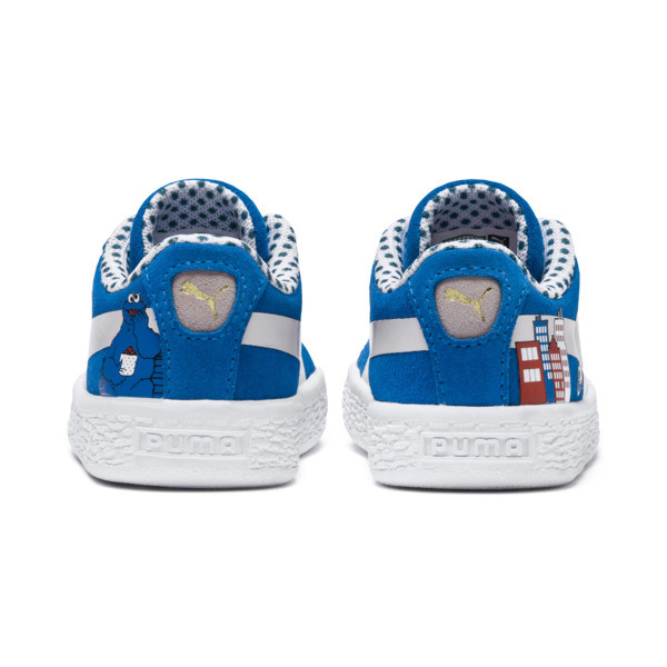 Sesame Street Suede Babies' Trainers, Indigo Bunting-Veiled Rose, large